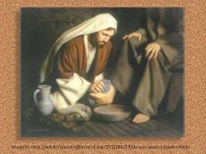 imagem - Jesus lavando os pés